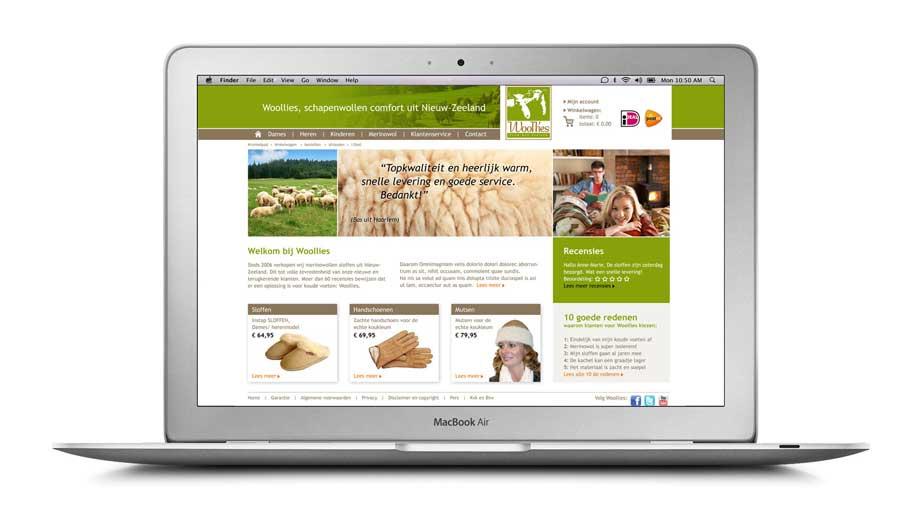 Woolies ontwerp website